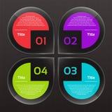 Vektor-Fortschritts-Hintergrund/Produktauswahl oder Version Stockbild