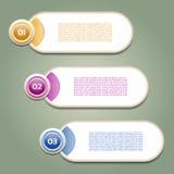 Vektor-Fortschritts-Hintergrund/Produktauswahl oder Version Stockbilder