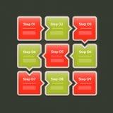 Vektor-Fortschritts-Hintergrund/Produktauswahl oder Version Lizenzfreie Stockfotografie