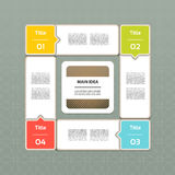 Vektor-Fortschritts-Hintergrund. Produktauswahl oder Version Lizenzfreie Stockbilder
