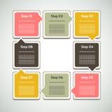 Vektor-Fortschritts-Hintergrund. Produktauswahl oder Version Stockfoto