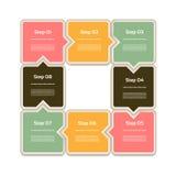 Vektor-Fortschritts-Hintergrund/Produktauswahl oder Version Stockfoto