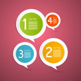 Vektor-Fortschritts-Schritte für Tutorium, Infographics Stockfotos