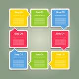 Vektor-Fortschrittshintergrund/-Produktauswahl oder -version Stockfoto