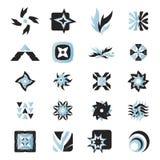 vektor för 25 elementsymboler Royaltyfri Foto