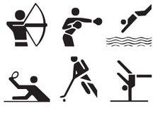 vektor för 3 sportsymboler Royaltyfri Fotografi
