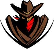 vektor för cowboylogomaskot Royaltyfria Bilder
