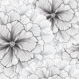 vektor för detaljerad teckning för bakgrund blom- bukettbows figure seamless litet för blommamodell Sömlös textur för krusidull Royaltyfri Bild