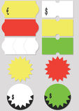 vektor för etikett för illustrationpris set Arkivbild