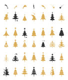 Vektor för julgrankonturdesign Arkivbild