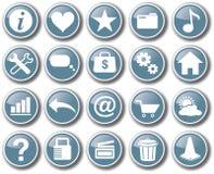 Vektor för knapp för uppsättning för internetrengöringsduksymbol Fotografering för Bildbyråer