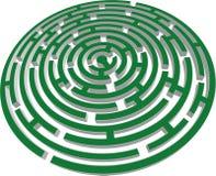 vektor för labyrint 3d Arkivbild