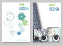 Vektor för mall för design för årsrapportbroschyrreklamblad, broschyrcov Fotografering för Bildbyråer