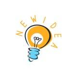 vektor för mall för logo för lampa för idé för symboler för element för kulasamlingsdesign set Arkivfoton
