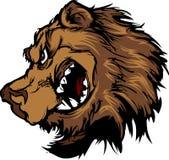 vektor för maskot för huvud för björntecknad filmgrizzly Royaltyfri Foto