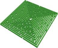 vektor för maze 3d Arkivbild