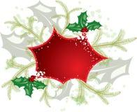 vektor för mistletoe för ram för juldesignelement Arkivfoto