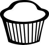vektor för muffin för brödcakeillustration söt Arkivbild