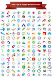 vektor för packe för designelementlogo Royaltyfria Bilder