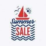 Vektor för sommarförsäljningsemblem Fotografering för Bildbyråer