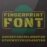vektor för stil för stilsort för design för abc-alfabet färgrik Royaltyfri Fotografi