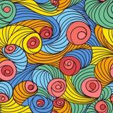 vektor för swirl för illustrationmodell seamless Royaltyfri Foto