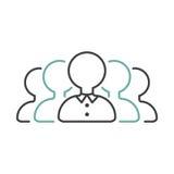 Vektor för symbol för affärsteamworköversikt Arkivfoto