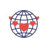 Vektor för symbol för volontärbloddonation Arkivfoton