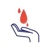 Vektor för symbol för volontärbloddonation Royaltyfria Bilder