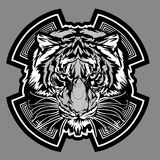 vektor för tiger för diagramlogomaskot Fotografering för Bildbyråer