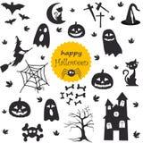 vektor för vampyr för sorceress för grym halloween illustrationreaper set Fotografering för Bildbyråer