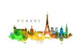Vektor Frankreich lizenzfreie abbildung