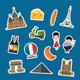 Vektor Frankreich visiert Aufkleber an lizenzfreie abbildung