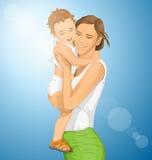 Vektor-Frau mit Kind stock abbildung