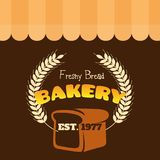 Vektor Freshy-Brot-Bäckerei EST 1977 Stockfotografie