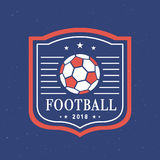 Vektor-Fußball Logo Template Set 2018 Stockfotografie