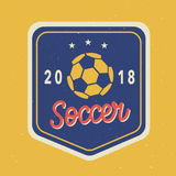Vektor-Fußball-Turnier Logo Template 2018 stock abbildung