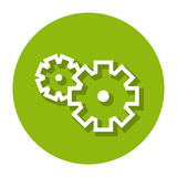 Vektor-Gänge innerhalb einer Kreis-Linie Ikone Vektor Abbildung
