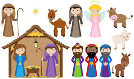 Vektor-Geburt Christis-Sammlung Stockfoto