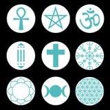 Vektor-geistiger Symbol-Satz Lizenzfreies Stockbild