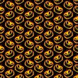 Vektor-gelb-orangeer festlicher furchtsamer und gespenstischer Halloween-Kürbis Stockbilder