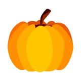 Vektor-gelb-orangeer festlicher Halloween-Kürbis Stockbild