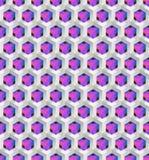 Vektor-geometrischer nahtloser abstrakter Hintergrund Lizenzfreies Stockfoto