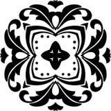 VEKTOR-GEOMETRISCHES SCHWARZWEISS-MUSTER-DESIGN stockbilder