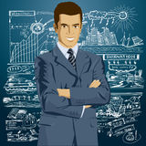 Vektor-Geschäftsmann In Suit Stockfoto