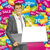 Vektor-Geschäftsmann In Suit Stockbild