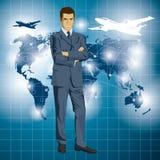 Vektor-Geschäftsmann In Suit Lizenzfreie Stockfotos