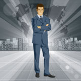 Vektor-Geschäftsmann In Suit Lizenzfreies Stockbild