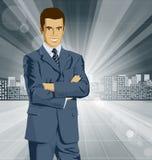 Vektor-Geschäftsmann In Suit Stockfotografie