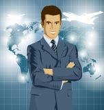 Vektor-Geschäftsmann In Suit Lizenzfreie Stockfotografie
